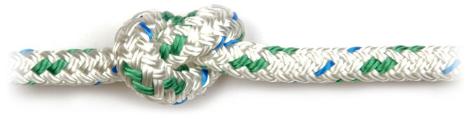 Green Braid on Braid Polyester Rope