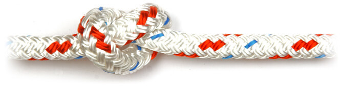 Red Braid on Braid Polyester Rope