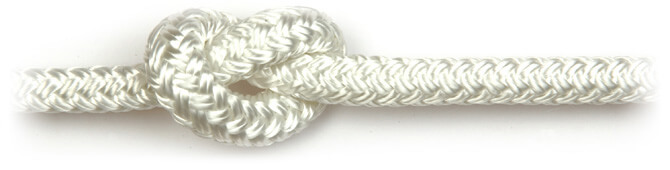 White Braid on Braid Polyester Rope