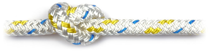 Yellow Braid on Braid Polyester Rope