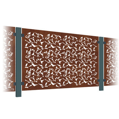 Branches Decorative Balustrade Kit - Corten Steel