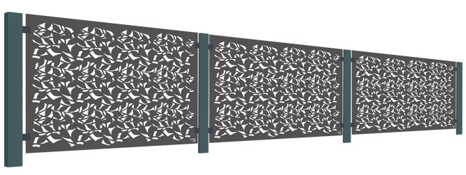 Branches Balustrade Screen Kit - Powder Coated Aluminium