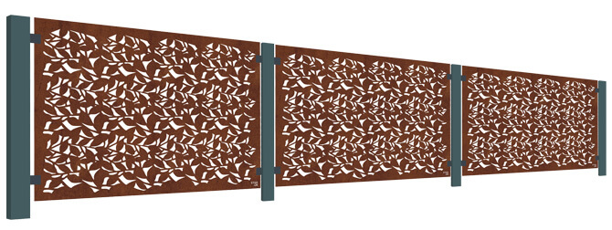 Branches Balustrade Screen Kit - Corten Steel