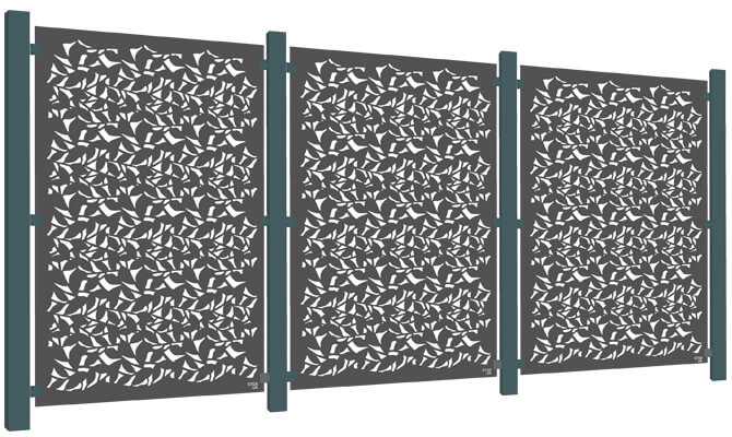 Branches Decorative Garden Screen Kit - Aluminium