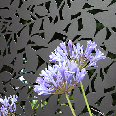 Branches Garden Screen Kit - Aluminium - Laser-cut Pattern