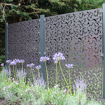Branches Full Height Garden Screen Starter Kit in Powder Coated Aluminium