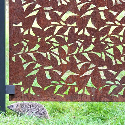 Branches Garden Screen Kit - Corten Steel - Laser-cut Pattern