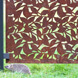 Branches Garden Screen - Corten Steel - Laser-cut Pattern