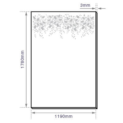 Burst Garden Screen - Aluminium - Dimensions