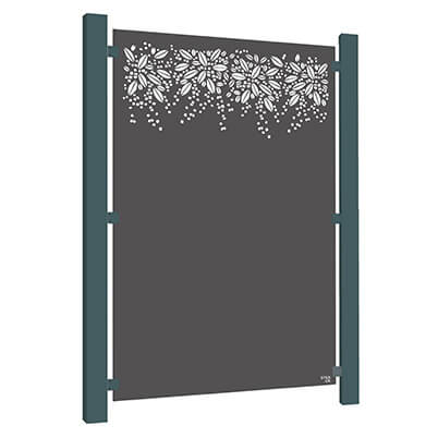 Burst Garden Screen - Powder Coated Aluminium
