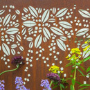 Burst Garden Screen Kit - Corten Steel