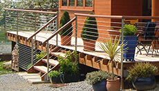 Wire Balustrade Decking Gallery