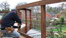 Balustrade Wire Installation
