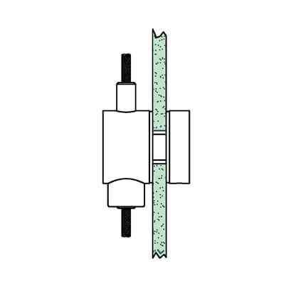 Cable Display Glass Support - Vertical - Position