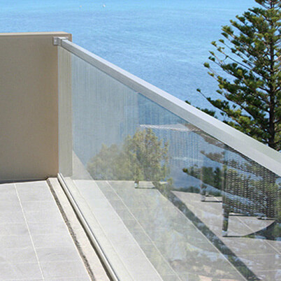 Cap Rail on Glass Balustrade