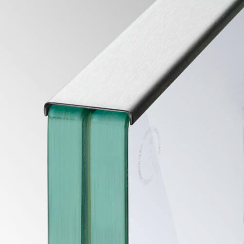 Glass Cap Rail Edge Protection on Balustrade