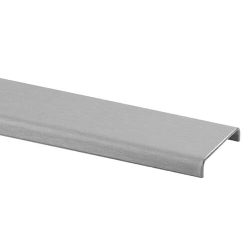 Glass Cap Rail - Stainless Steel