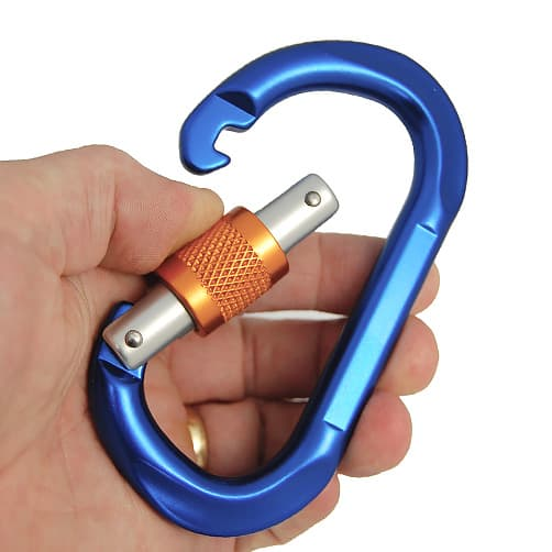 Screwgate Carabiner - Oval - Gate Opening