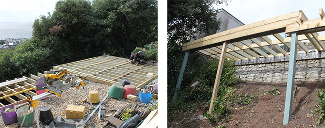 Raised Decking Area Construction
