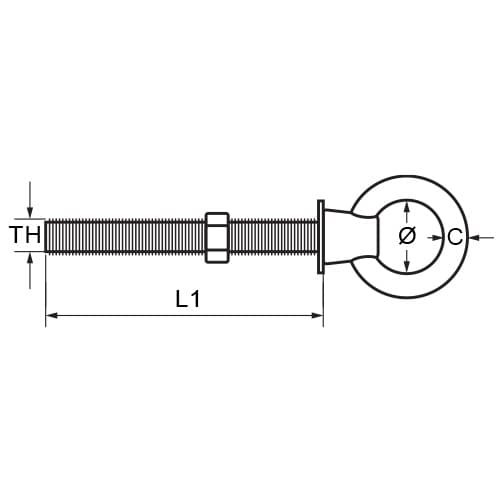 Commercial Eye Bolt Diagram