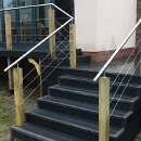 Raised Decking Balcony- Wire Balustrade