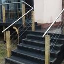 Raised Decking Balcony- Wire Balustrade