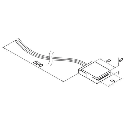 LED Strip Connection Cable - Dimensions