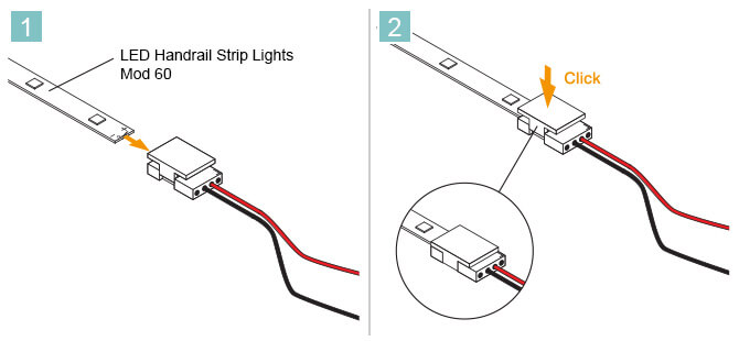 LED Connection Cable - Mod 60 - Installation Advice