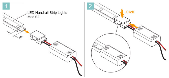 LED Connection Cable - Mod 62 - Installation Advice