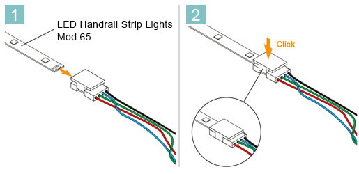 LED Connection Cable - Mod 65 - Installation Advice
