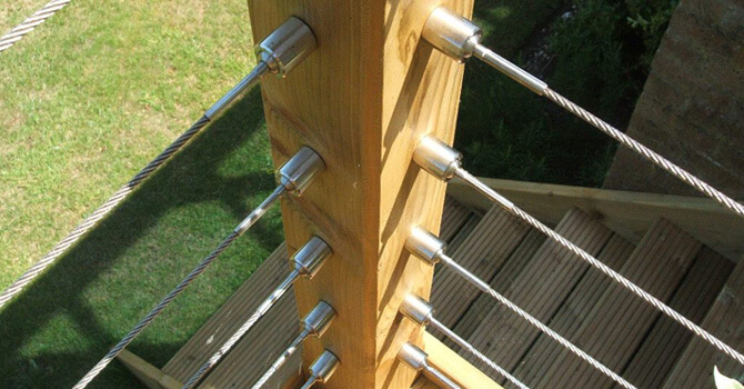 Wire Balustrade Corner Post