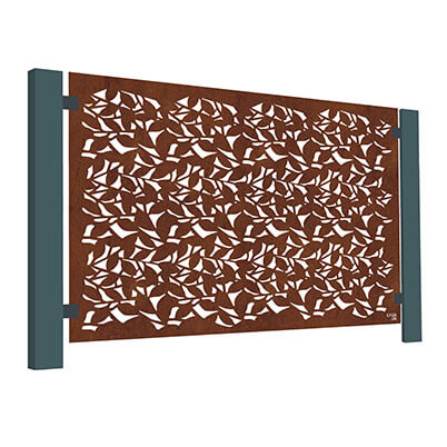 Branches Laser-cut Balustrade Screen - Corten Steel