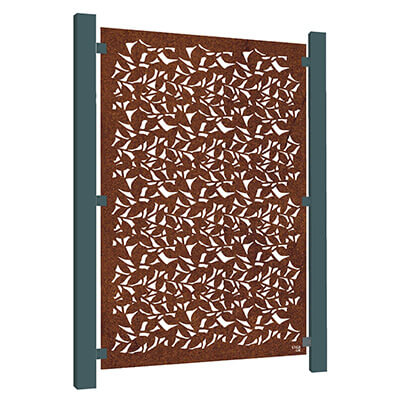 Branches Garden Screen - Corten Steel
