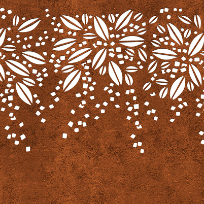 Burst Garden Screen Kit - Corten Steel - Laser-cut Pattern