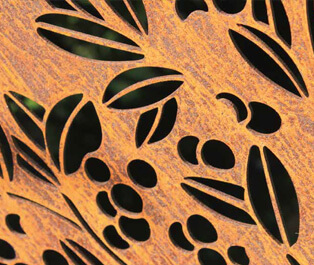 Decorative Garden Screens - Corten Steel
