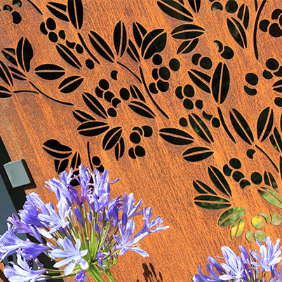 Drift Garden Screen - Corten Steel - Laser-cut Pattern