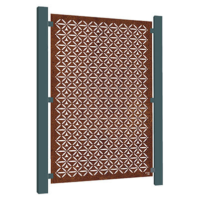 Motif Garden Screen - Corten Steel