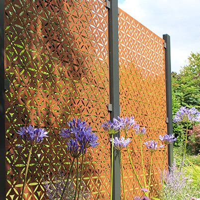 Motif Garden Screening Fence Panels