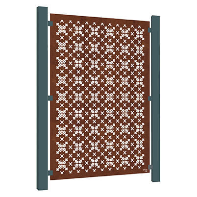 RHS Parterre Garden Screen - Corten Steel