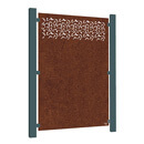 Privacy Garden Screen - Corten Steel