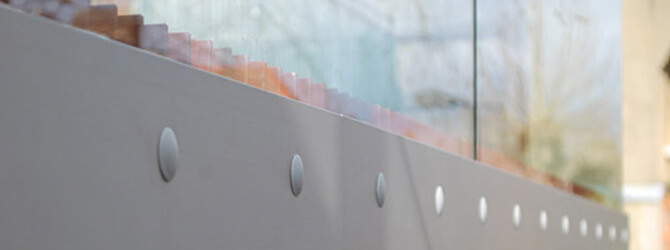 Cover Caps Installed On Fascia Mount Glass Balustrade