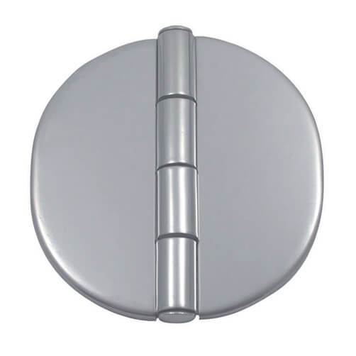 Round Hinge with Cover Cap - Stainless Steel