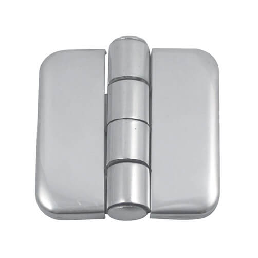 Square Hinge with Cover Caps - Stainless Steel