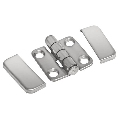 Square Hinge with Cover Caps - Components
