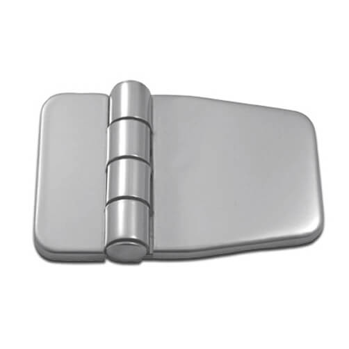 Short Sided Hinge with Cover Caps - Stainless Steel