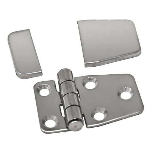 Short Sided Hinge with Cover Caps - Components