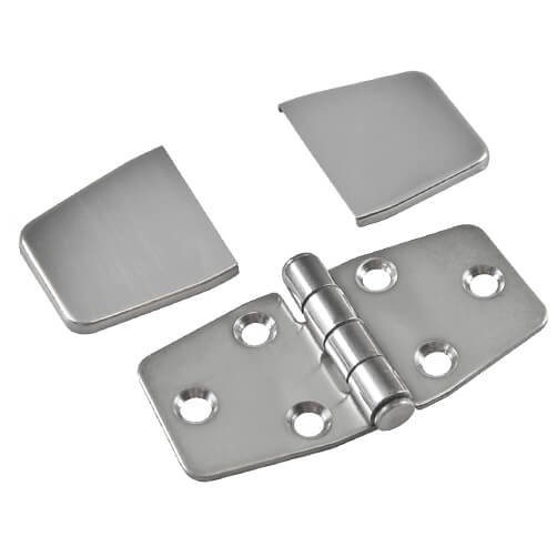Stainless Steel Hinge with Cover Caps - Components