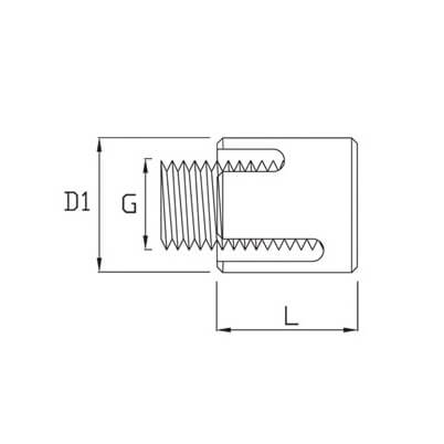 Wire Rope Cross Clamp - Dimensions