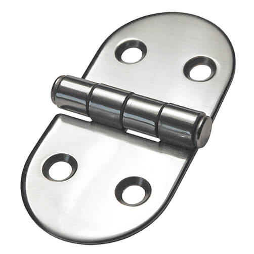 D Shaped Hinge Stainless Steel - 4 Hole