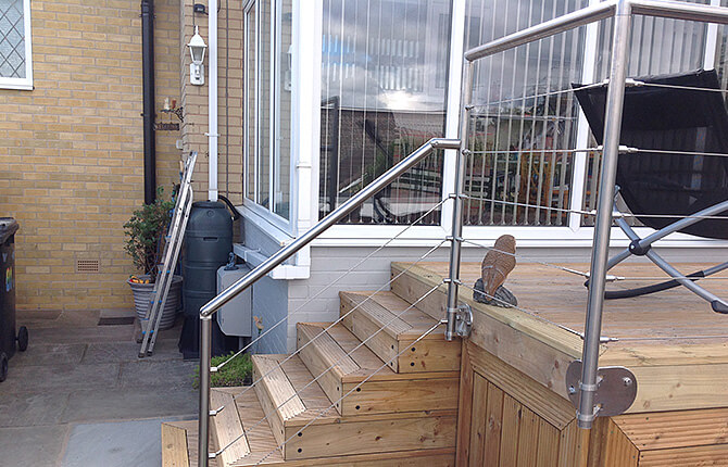 Balustrade Wire Infill On Stairs